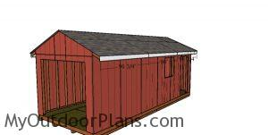 Side roof trims - 10x24 shed