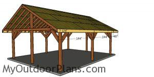 Side roof trims - 20x24 pavilion