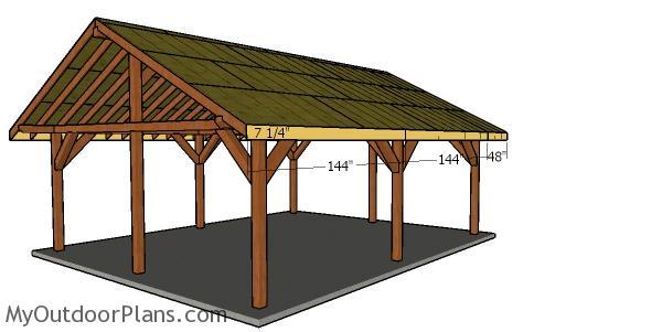 Side roof trims - 20x24 pavilion