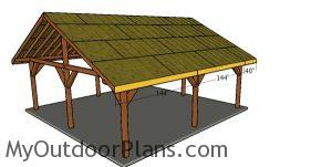 Side roof trims - 24x24 pavilion