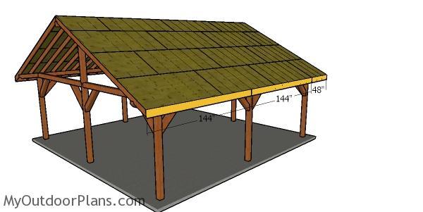 Side roof trims - 24x24 pavilion