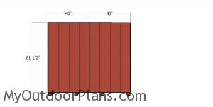 Side wall anels - 8x16 shed