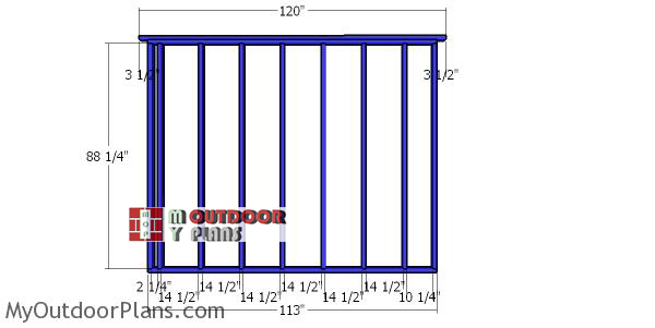 Side-wall-frame---10x16-shed