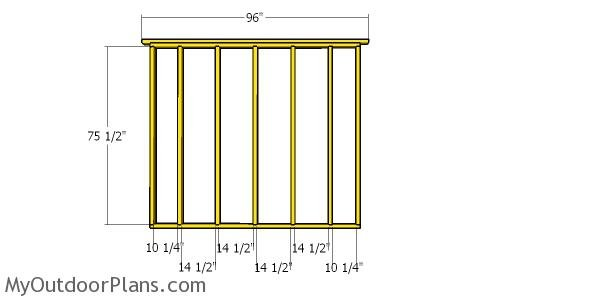 Side wall frame - 8x16 shed