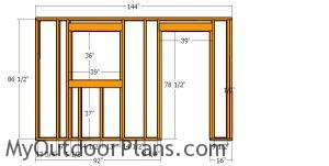 Side wall frame with door