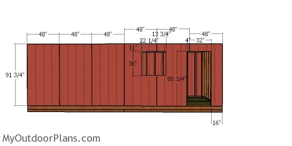 Side wall siding sheets
