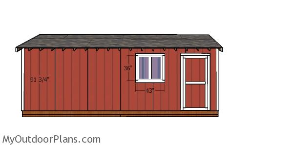 Side wall trims - 10x24 shed