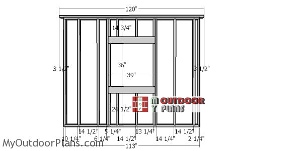 Side-wall-with-window-frame---hip-roof-shed