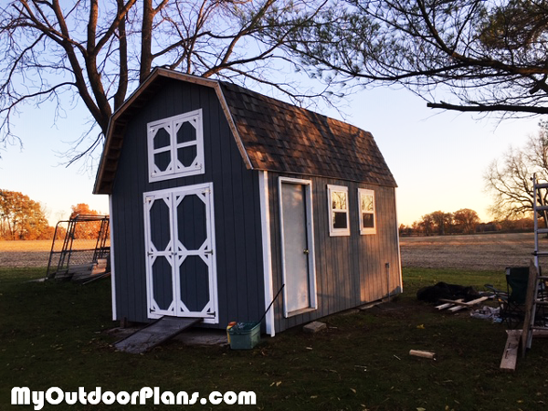 DIY 12x16 Barn Shed