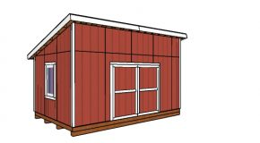 12×18 Lean to Shed Plans