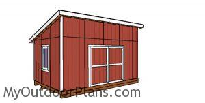 12x18 Lean to Shed Plans