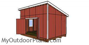 12x18 Lean to Shed Plans - DIY Drawings