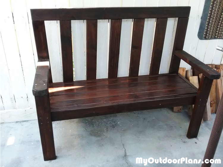 2x4 Garden Bench - DIY Project