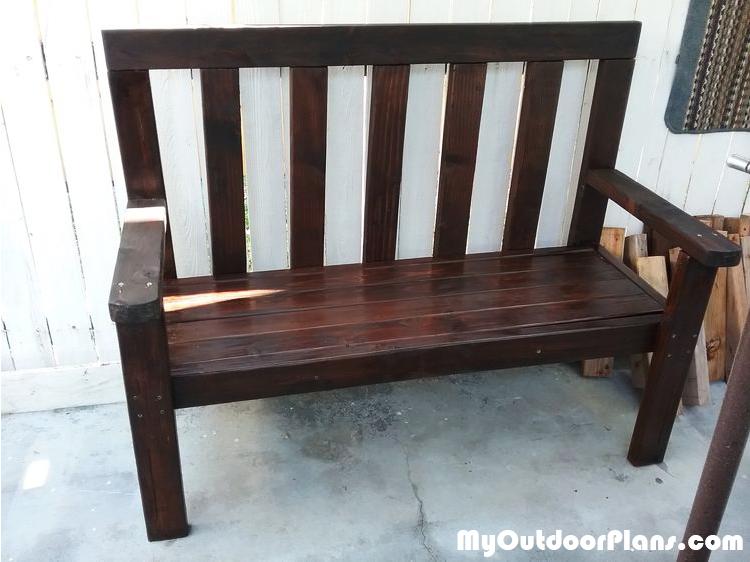 2x4 Garden Bench - DIY Project