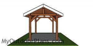 8x12 Pavilion Plans - front view
