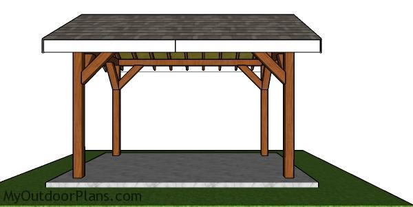 8x12 Pavilion Plans - side view