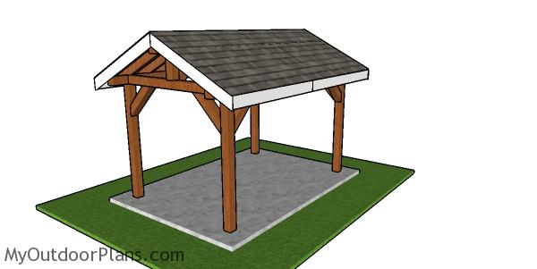 8x12 Outdoor Pavilion - Free DIY Plans