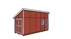 8×20 Lean to Shed Plans