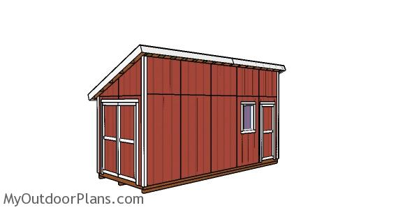 8x20 Lean to Shed Plans