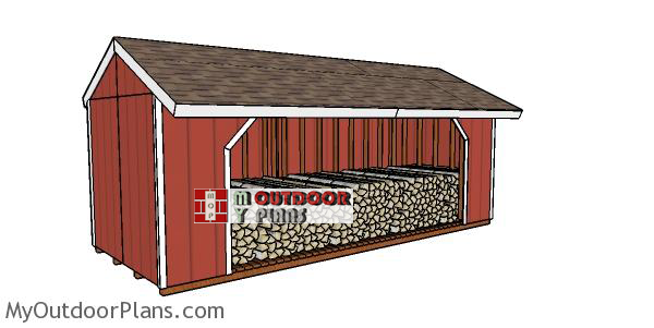 8x20-firewood-shed-plans