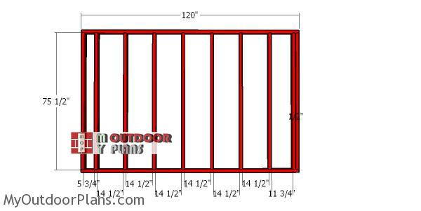 Back-wall-frame---8x20-wood-shed