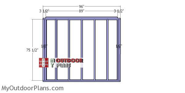 Back-wall-frame---8x8-wood-shed