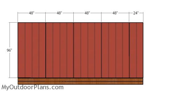 Back wall siding sheets - 12x18 shed