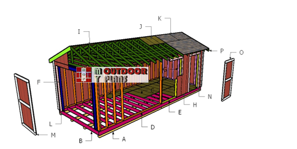 Building-a-10x24-gable-shed