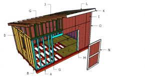 12×18 Lean to Shed Roof Plans