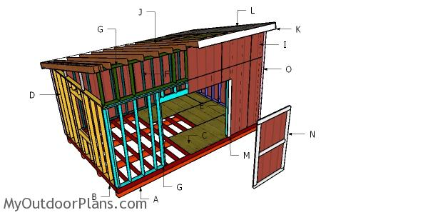 12x18 Lean to Shed Roof Plans