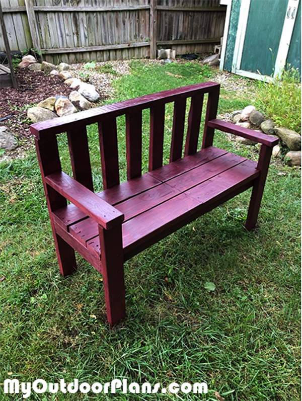 Backyard Bench made from 2x4s