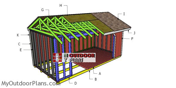 Building-a-8x16-firewood-shed