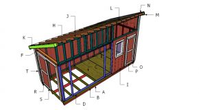 8×20 Lean to Shed Roof Plans