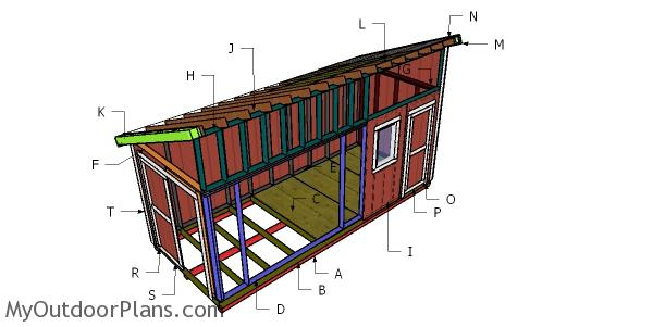 8x20 Lean to Shed Roof Plans