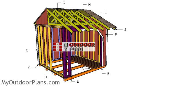 Building-a-8x8 firewood shed
