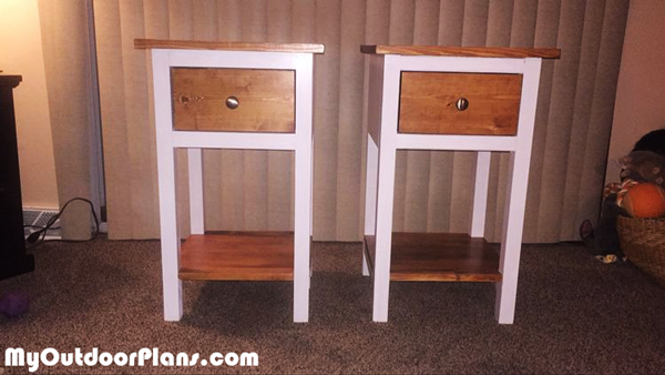 Rustic Night Stands - DIY Project