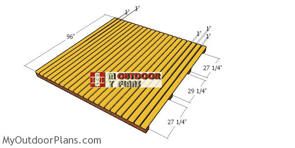 Building-the-floor-for-the-8x8-wood-shed