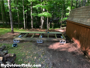 Building-the-frame-for-the-wood-storage-shed