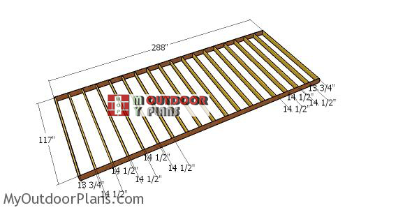 Bulding-the-floor-frame-for-a-10x24-shed