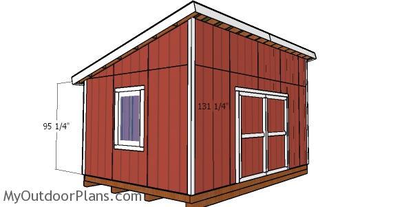 Corner shed trims