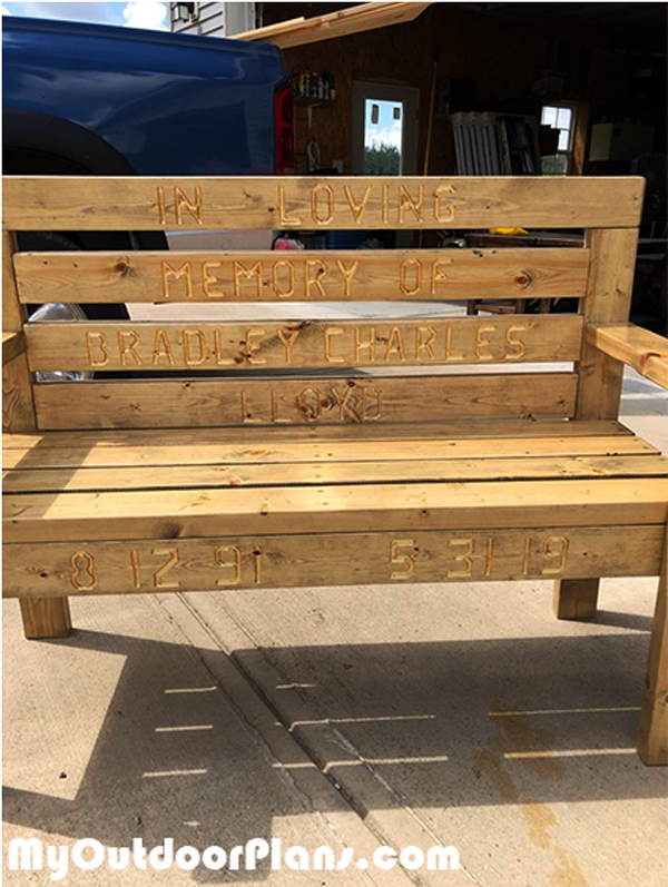 Pallet Bench made from 2x4s