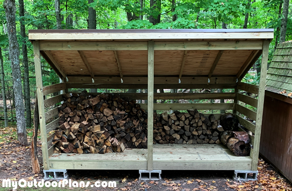 DIY Firewood Shed - 3 Cords