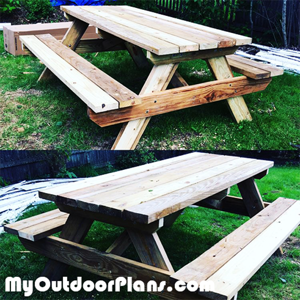 DIY Picnic Table 6 ft