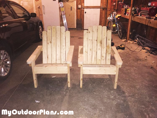 DIY Pair of 2x4 Adirondack Chairs