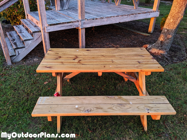 DIY Picnic Table 5 ft