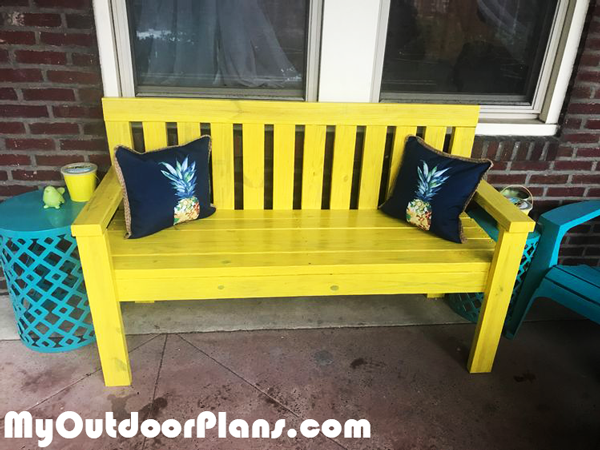 Rustic 2x4 Garden Bench - DIY Project