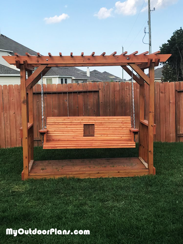 Pergola Deck with Swing - DIY Project