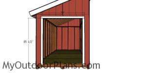 Double front doors jambs - 8x20 shed