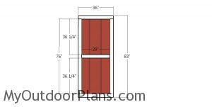 Double shed doors - build