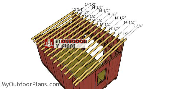 Fitting-the-rafters-for-12x18-lean-to-shed